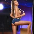 Top Model massiert mit Öl & Gleitgel für Sex